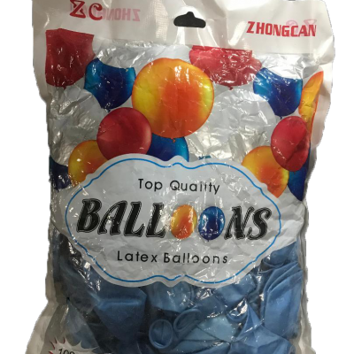 Baby blue balloons 100psc
