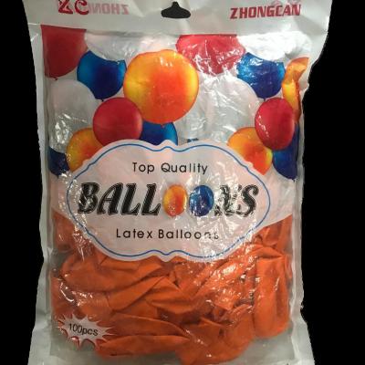 Orange balloon 100pcs