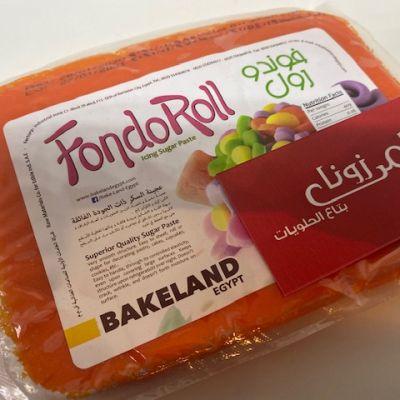 orange sugar paste 500 gram